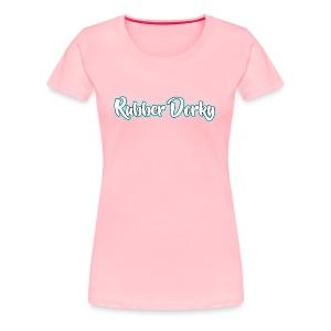 Rubber Dorky - Logo (name) - Women's Premium T-Shirt