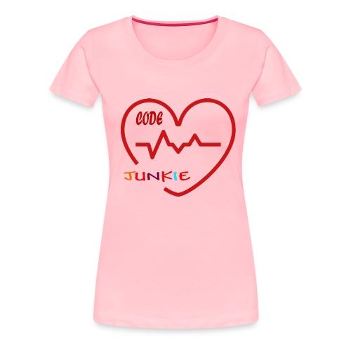 code junkie - Women's Premium T-Shirt