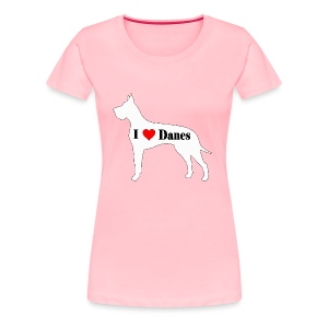 Great Dane (I heart Danes) - Women's Premium T-Shirt