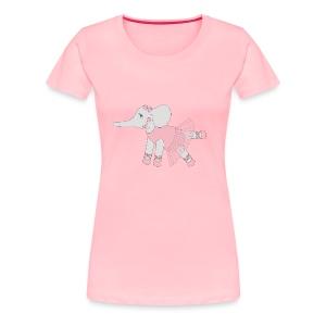 Ballerina Elephant - Women's Premium T-Shirt