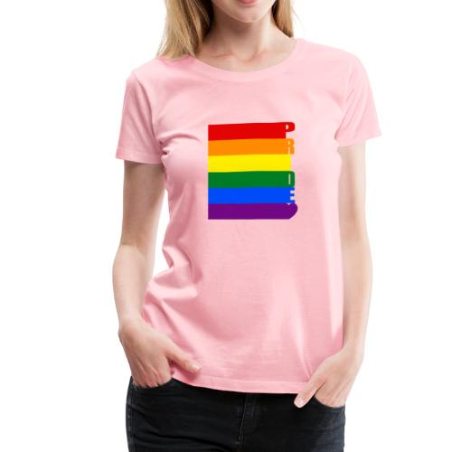 LGBT Pride Flag text - Women's Premium T-Shirt