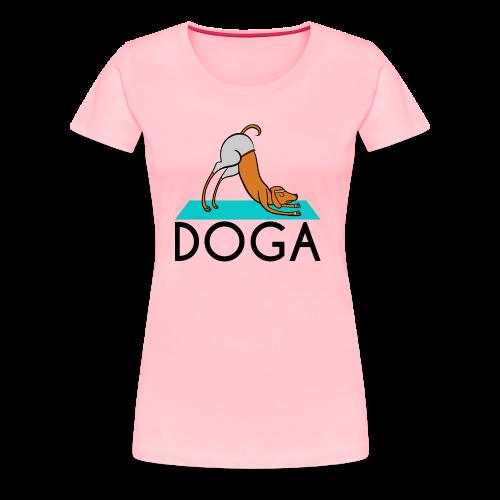 Doga (Dog Yoga) - Women's Premium T-Shirt