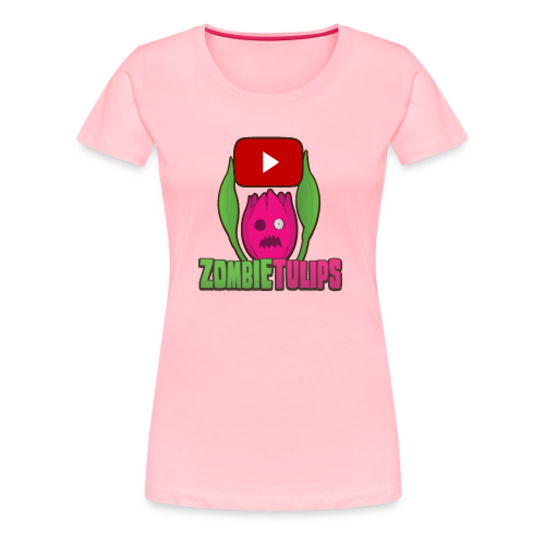 ZombieTulips with play button - Women's Premium T-Shirt
