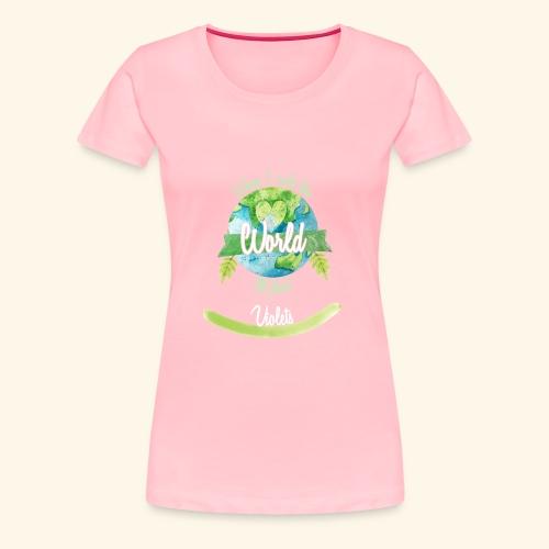 Violets World Ruler - Women's Premium T-Shirt