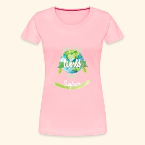 Sunflowers World Ruler - Women's Premium T-Shirt