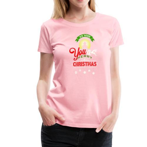 We Wish You A merry Christmas Reindeer - Women's Premium T-Shirt