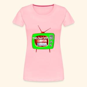 Two Crazy Kids TV Logo - Women's Premium T-Shirt