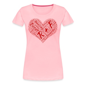 R+F Red Heart - Women's Premium T-Shirt