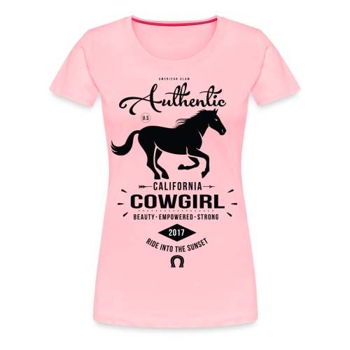 Authentic California Cowgirl Design - Women's Premium T-Shirt