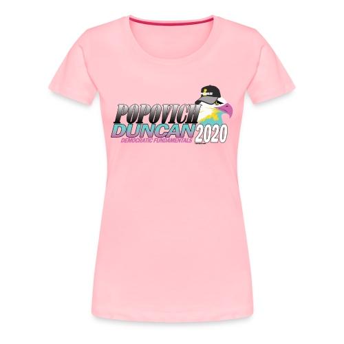 Popovich/Duncan 2020 Campaign Logo - Women's Premium T-Shirt
