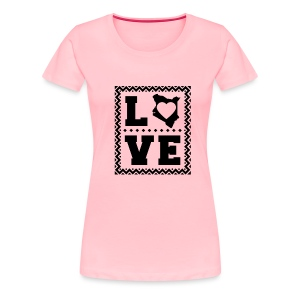 love kenya Black - Women's Premium T-Shirt