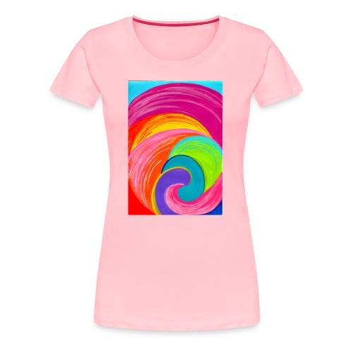 Colorful rainbow swirl - Women's Premium T-Shirt
