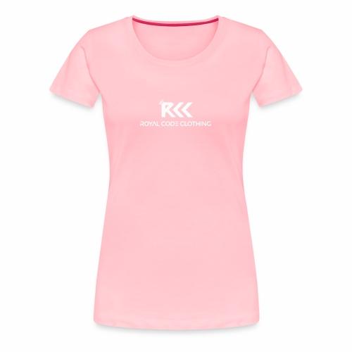 White RCC Logo - Women's Premium T-Shirt