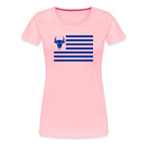 PivotBoss Flag Cobalt - Women's Premium T-Shirt
