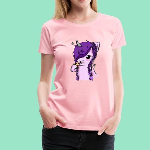 Unicorn Eating Pizza - Women's Premium T-Shirt