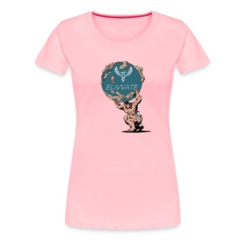 Man Holding the Globe - Women's Premium T-Shirt