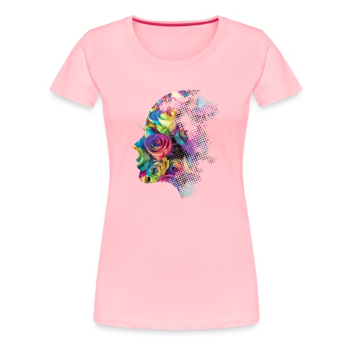 Face of Roses - Women's Premium T-Shirt