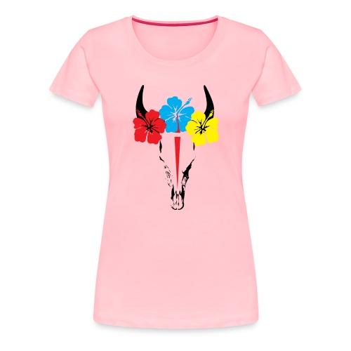 Bison skull - Women's Premium T-Shirt