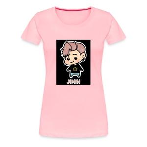 BTS JIMIN CARTOON - Women's Premium T-Shirt