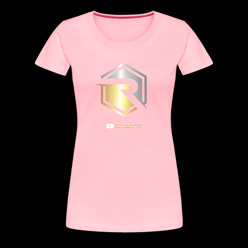 Gold/Silver Logo YouTube - Women's Premium T-Shirt
