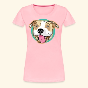 Cute Pitbull Pet Dog - Women's Premium T-Shirt