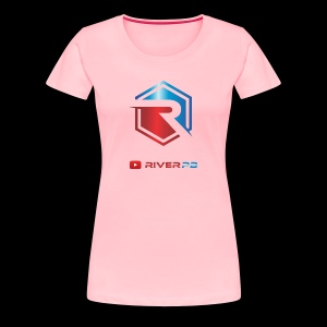 Red/Blue Logo with YouTube - Women's Premium T-Shirt