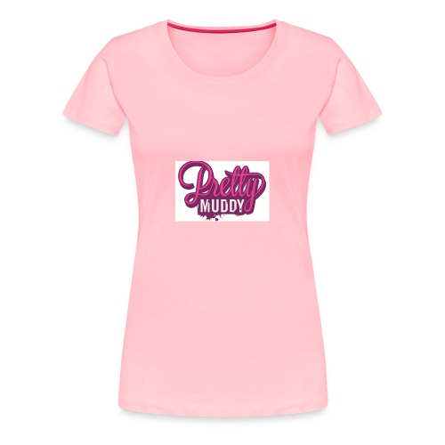 Pretty Muddy Logo 700x450 - Women's Premium T-Shirt