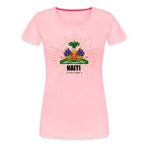 Haiti Emblem - Women's Premium T-Shirt