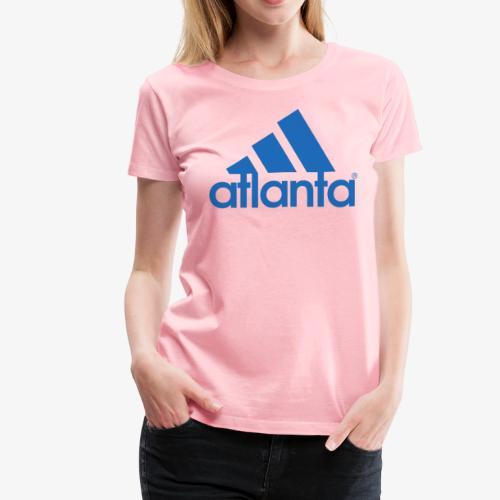 adlanta blue edges - Women's Premium T-Shirt