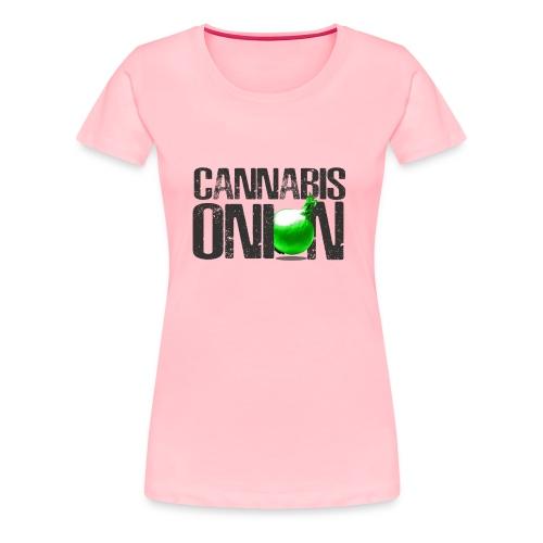 CANNABIS ONION LOGO - Women's Premium T-Shirt