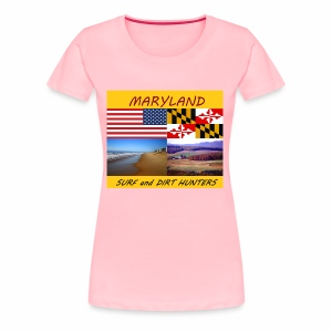 MARYLAND SURF AND DIRT HUNTERS group LOGO LARGE - Women's Premium T-Shirt
