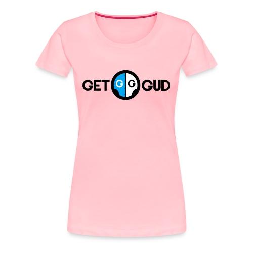 Get Gud text with logo in between - Women's Premium T-Shirt