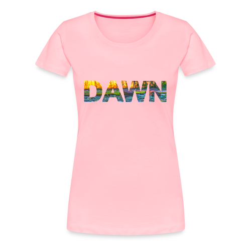 DAWN (sunset texture) - Women's Premium T-Shirt