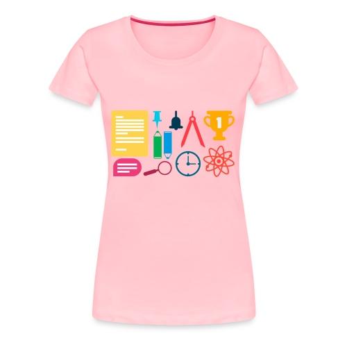 school supplies - Women's Premium T-Shirt