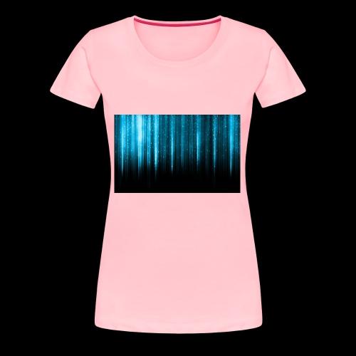 Blue Wallpaper Colorful - Women's Premium T-Shirt