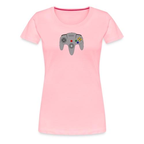 Retro64 Controller - Primal Lettering - Women's Premium T-Shirt