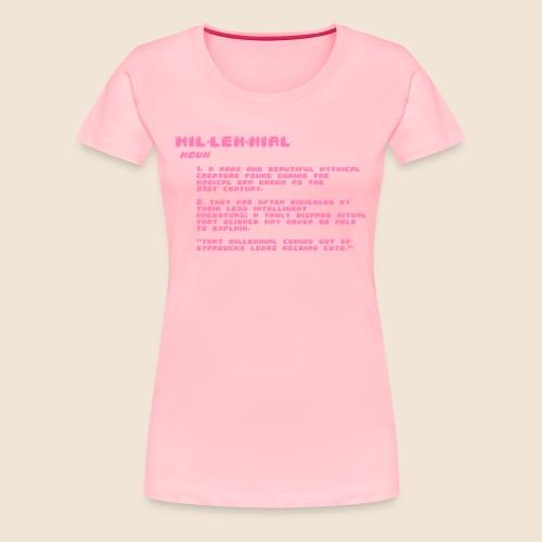 Accurate Millennial Definition - Women's Premium T-Shirt