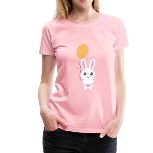 Bunny & Balloon - Women's Premium T-Shirt