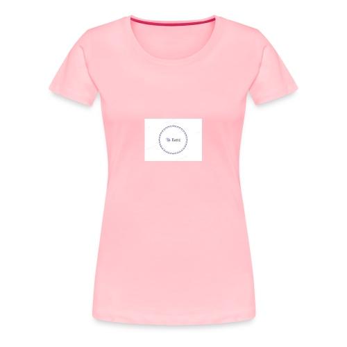 Blue Ring Volleyball (Katie) design logo - Women's Premium T-Shirt