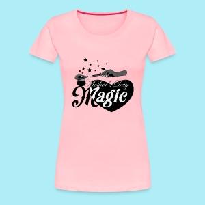 African American Mother's Day Magic (Black Star) - Women's Premium T-Shirt