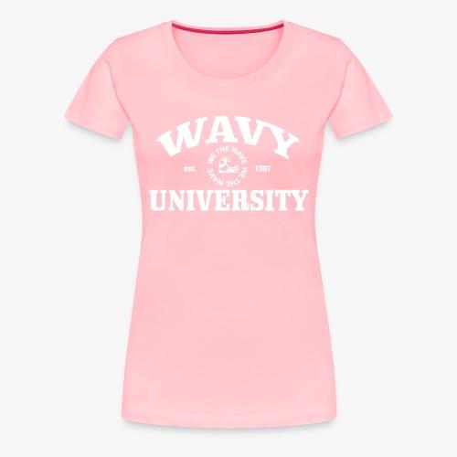 Wavy U (White) - Women's Premium T-Shirt