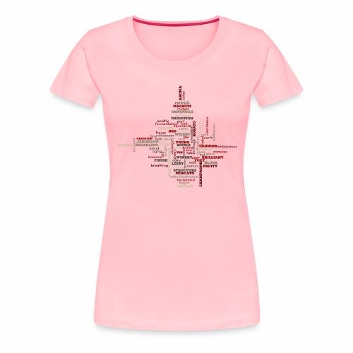 The Words of Wine - Women's Premium T-Shirt