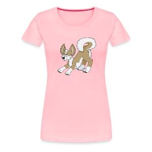 Crouching Chihuahua - Women's Premium T-Shirt