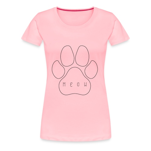 Meow paw - Women's Premium T-Shirt