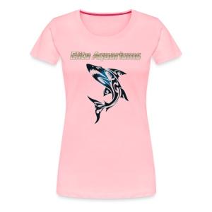 Maori Shark, with Elite Aquariums slogan - Women's Premium T-Shirt
