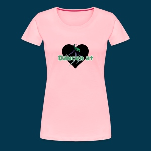 Dancer At Heart (Black Heart) - Women's Premium T-Shirt