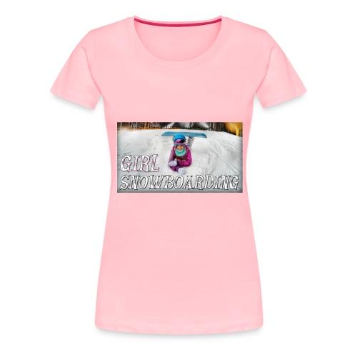 Girl Snowboarding - Women's Premium T-Shirt