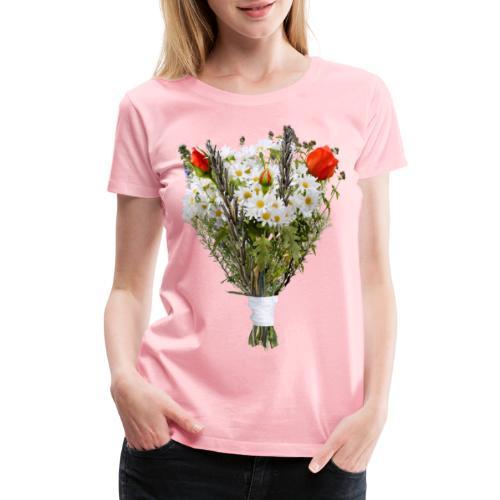 a bouquet of flowers - Women's Premium T-Shirt