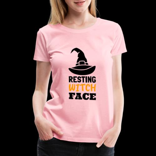 Resting Witch Face | Funny Halloween - Women's Premium T-Shirt