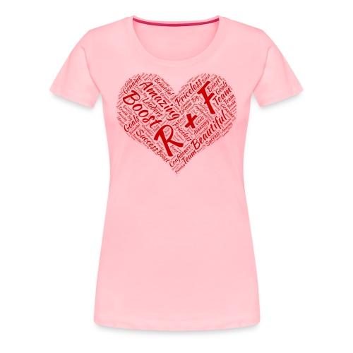 R+F Red Heart - Women's Premium T-Shirt